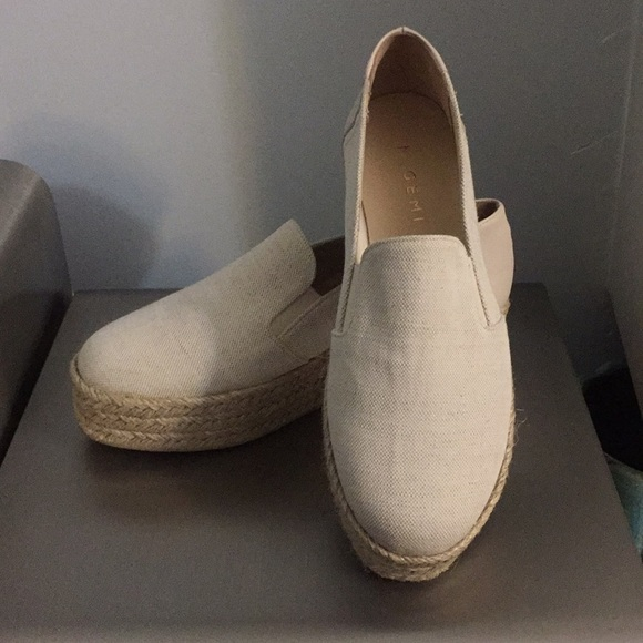 M. Gemi scarpe     Wheat Canvas Platform Espadrilles   Poshmark 5fb160